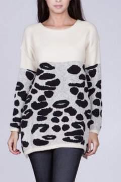 Ark & Co Leopard Pattern Sweater