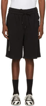 Off-White Black Basic Logo Lounge Shorts