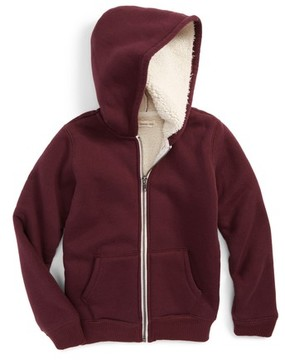 Tucker + Tate Toddler Boy's Plush Lined Zip Hoodie