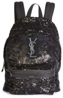 Saint Laurent Embroidered Backpack