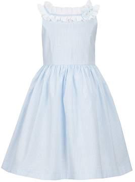 Laura Ashley London Little Girls 2T-6X Sleeveless Ruffle-Collar Dress