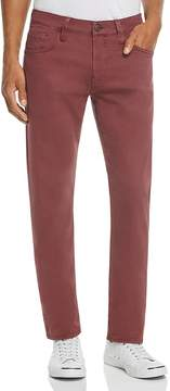 Mavi Jeans Zach Straight Fit Five-Pocket Chinos in Burgundy