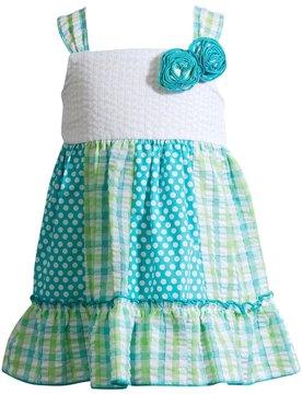 Youngland Baby Girl Print Ruffled Seersucker Dress