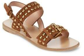 Marc Jacobs Tawny Leather Flat Sandals