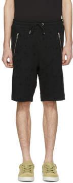 Diesel Black P Bir Distressed Shorts