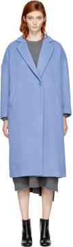 Enfold Blue Wool Loose Fit Coat