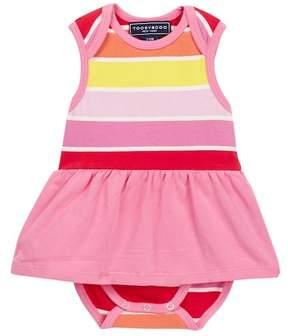 Toobydoo Sun Stripe Ballerina Skirted Bodysuit (Baby Girls)