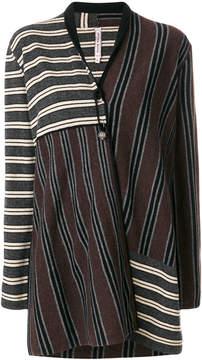 Antonio Marras striped cardi-coat