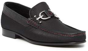 Donald J Pliner Leather Bit Moccasin Loafer