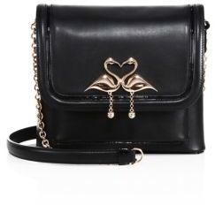 Sophia Webster Claudie Major Flamingo Leather Crossbody Bag