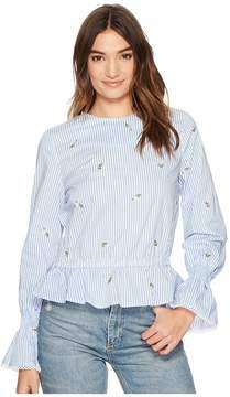 J.o.a. Bubble Sleeve Top Women's Clothing