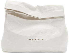 Simon Miller White XL Lunchbag Clutch