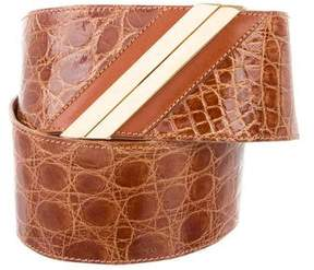 Valentino Crocodile Waist Belt
