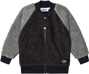 Molo Dark Grey Hooley Fleece Jacket
