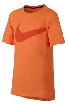 Nike Boys Dri-FIT Breathe Graphic T-Shirt Orange S - Big Kids (8-20)