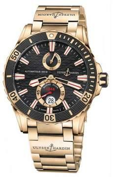 Ulysse Nardin Maxi Marine Diver Black Dial 18K Rose Gold Men's Watch 266-10-8M-92