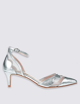 Marks and Spencer Kitten Ankle Strap Court Shoes