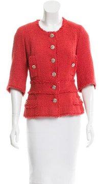 Chanel Fringe-Trimmed Tweed Jacket