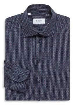 Eton Dot Print Contemporary-Fit Cotton Dress Shirt