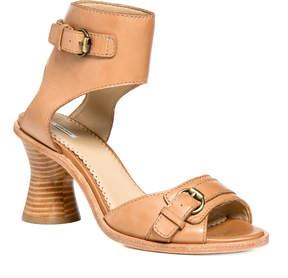 Max Studio waltz : burnished leather open-toe spindle heels