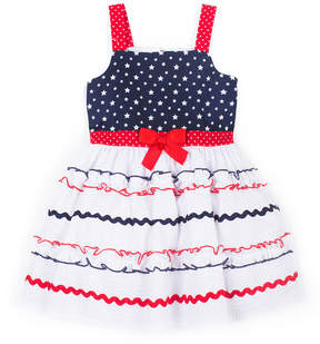Little Lass Embellished Sleeveless Sundress - Toddler Girls