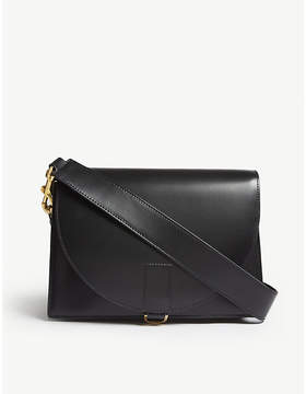 Sacai Black Hybrid Leather Satchel