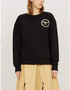 Boy London Metallic eagle logo cotton-jersey sweatshirt