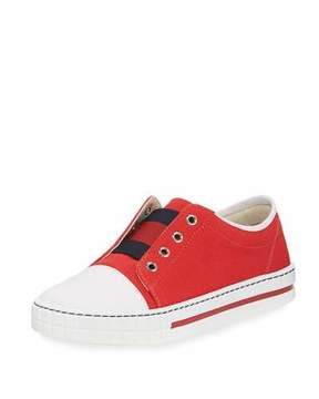 Gucci Canvas Slip-On Sneaker, Toddler