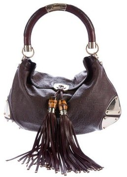 Gucci Medium Guccissima Indy Bag - BROWN - STYLE