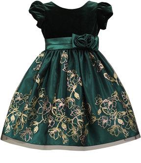 Sorbet Velvet Dress w/Gold Glitter, Size 2-6X