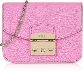 Furla Orchid Leather Metropolis Mini Crossbody Bag