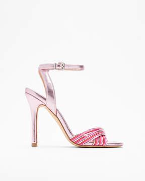 Express Metallic Twist Heeled Sandals