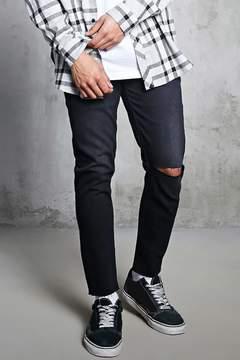 21men 21 MEN Slash Distressed Slim-Fit Jeans