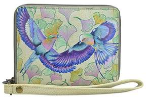 Anuschka Hand Painted Leather Zip Around Organizer RFID Clutch Wallet | Wings of Hope