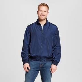 Merona Men's Big & Tall Nylon Harrington Windbreaker Jacket Navy