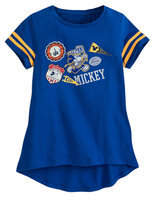 Disney Mickey Mouse Team Pennant T-Shirt - Walt World - Girls
