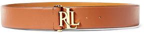 Ralph Lauren Lauren Monogram Vachetta Leather Belt
