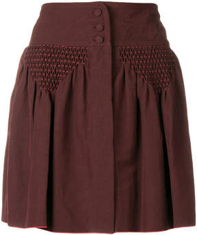 A.P.C. draped detail mini skirt