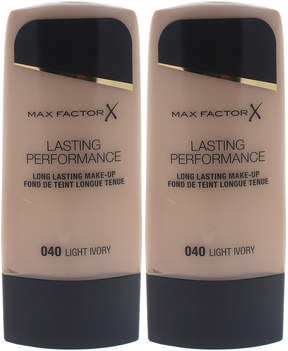 Max Factor Light Ivory Lasting Performance Foundation - Set of Two