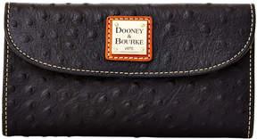 Dooney & Bourke Ostrich Continental Clutch - BLACK - STYLE