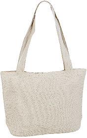 As Is Denim & Co. Beach Striped Bag