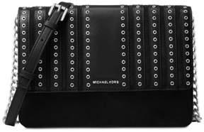 Michael Kors Brooklyn Grommet Large Leather Crossbody Bag - Black - 32F6ABHC3S-001 - BLACK - STYLE