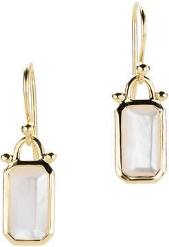 Elizabeth Showers Deco Emerald-Cut Mother-Of-Pearl Dangle & Drop Earrings in 18k Gold