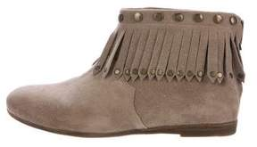 Anine Bing Suede Fringe-Accented Ankle Boots