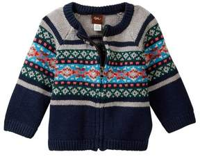 Tea Collection Quinn Zip Cardigan (Baby Boys)
