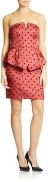 Ali Ro Strapless Peplum Dress