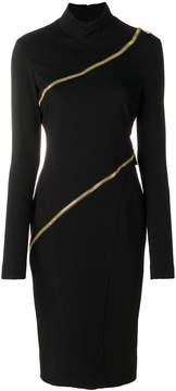 Class Roberto Cavalli asymmetric zip detail dress