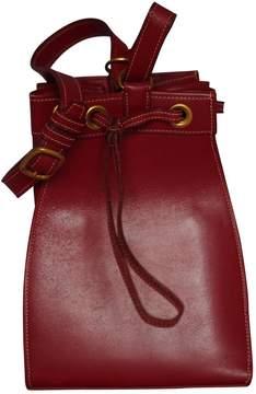 Hermes Market leather mini bag - BURGUNDY - STYLE