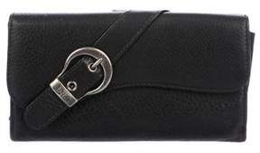 Christian Dior Gaucho Saddle Wallet