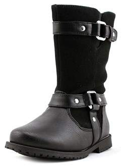 Rachel Lil Cortland Toddler Round Toe Synthetic Black Boot.